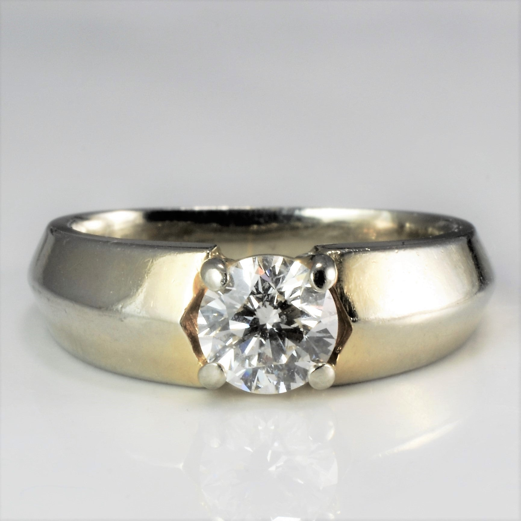 Tapered Solitaire Diamond Engagement Ring | 0.57 ct, SZ 5.25 |