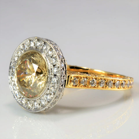 Cathedral Set Halo Diamond Engagement Ring | 3.80 ctw, SZ 6.75 |