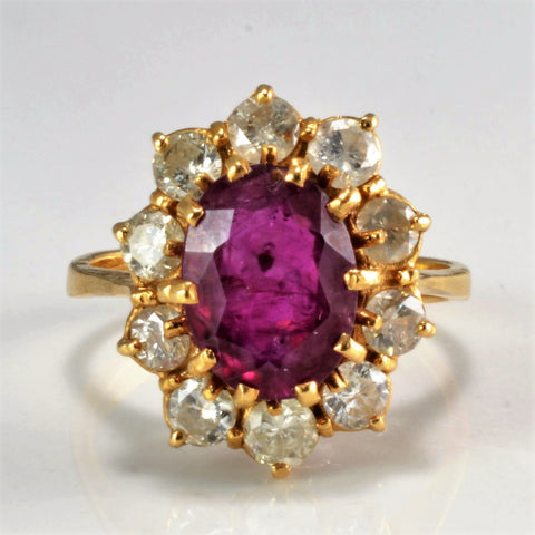 Cocktail Ruby & Diamond Ladies Ring | 0.70 ctw, SZ 4.75 |