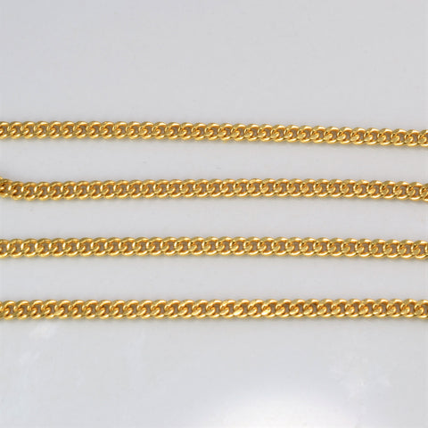 18K Yellow Gold Unisex Chain | 24''|