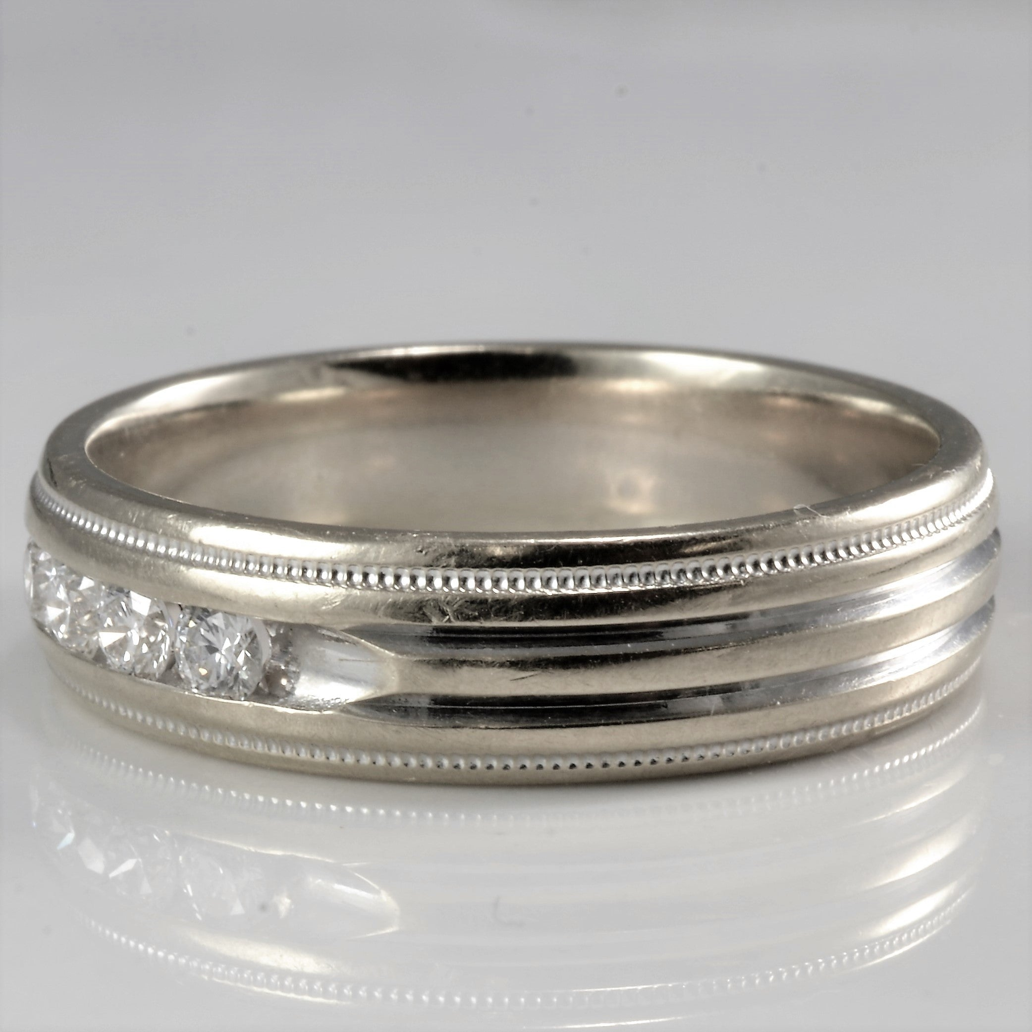 Milgrain Detailed Diamond Wedding Band | 0.25 ctw, SZ 9.75 |