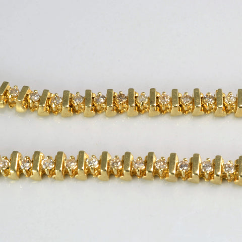 14K Gold Diamond Tennis Bracelet | 0.85 ctw, 7''|