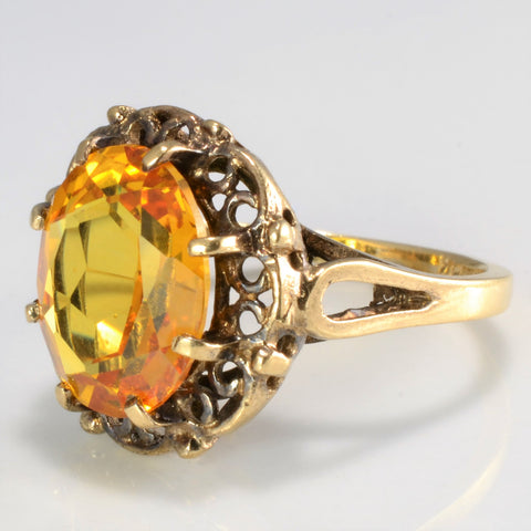 Eight Prong Solitaire Citrine Ring | SZ 5.5 |
