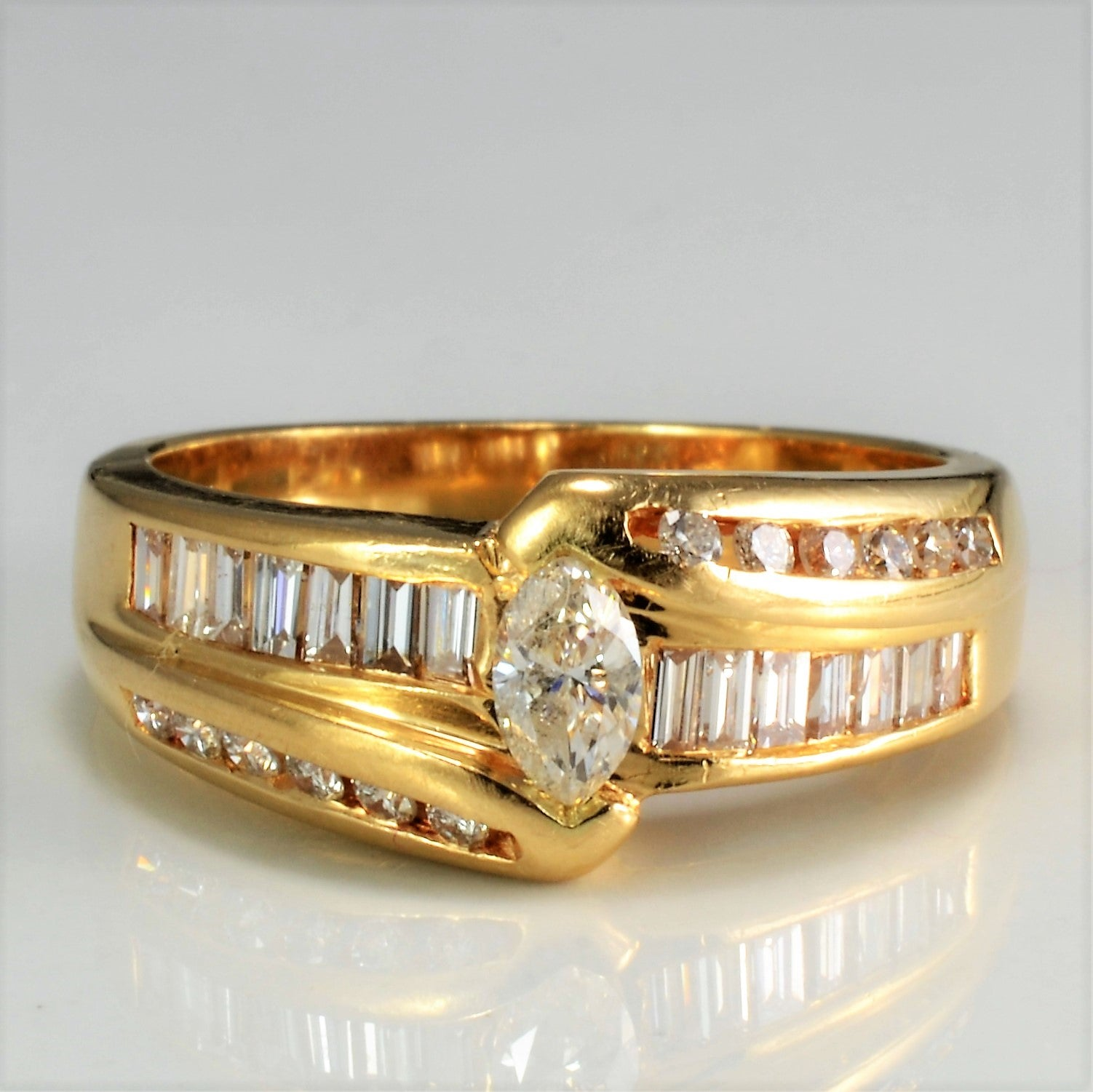 Channel Set Multi Diamond Ladies Ring | 0.53 ctw, SZ 6.75 |