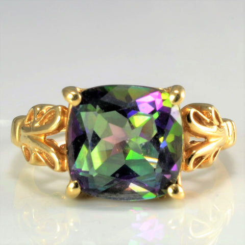 Four Prong Mystic Topaz Ladies Ring | SZ 7.25 |