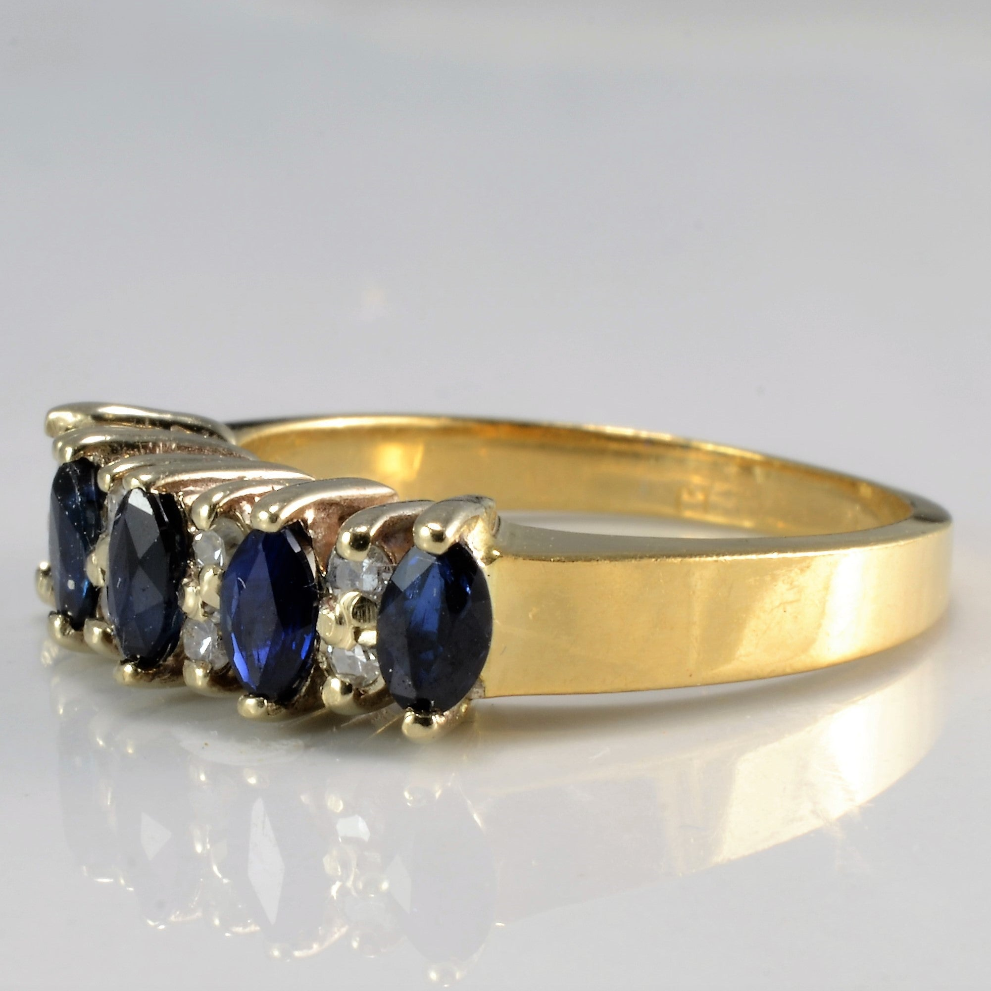 rows two bracelet designed pin and sapphire intertwined marquise of diamond as