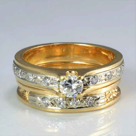 Solitaire with Accents Diamond Wedding Set | 0.47 ctw, SZ 6.5 |