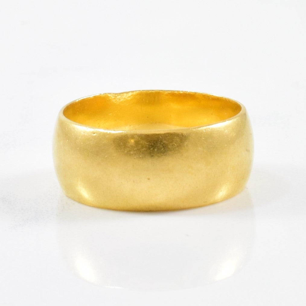 1960s Wide Gold Band | SZ 6.25 |