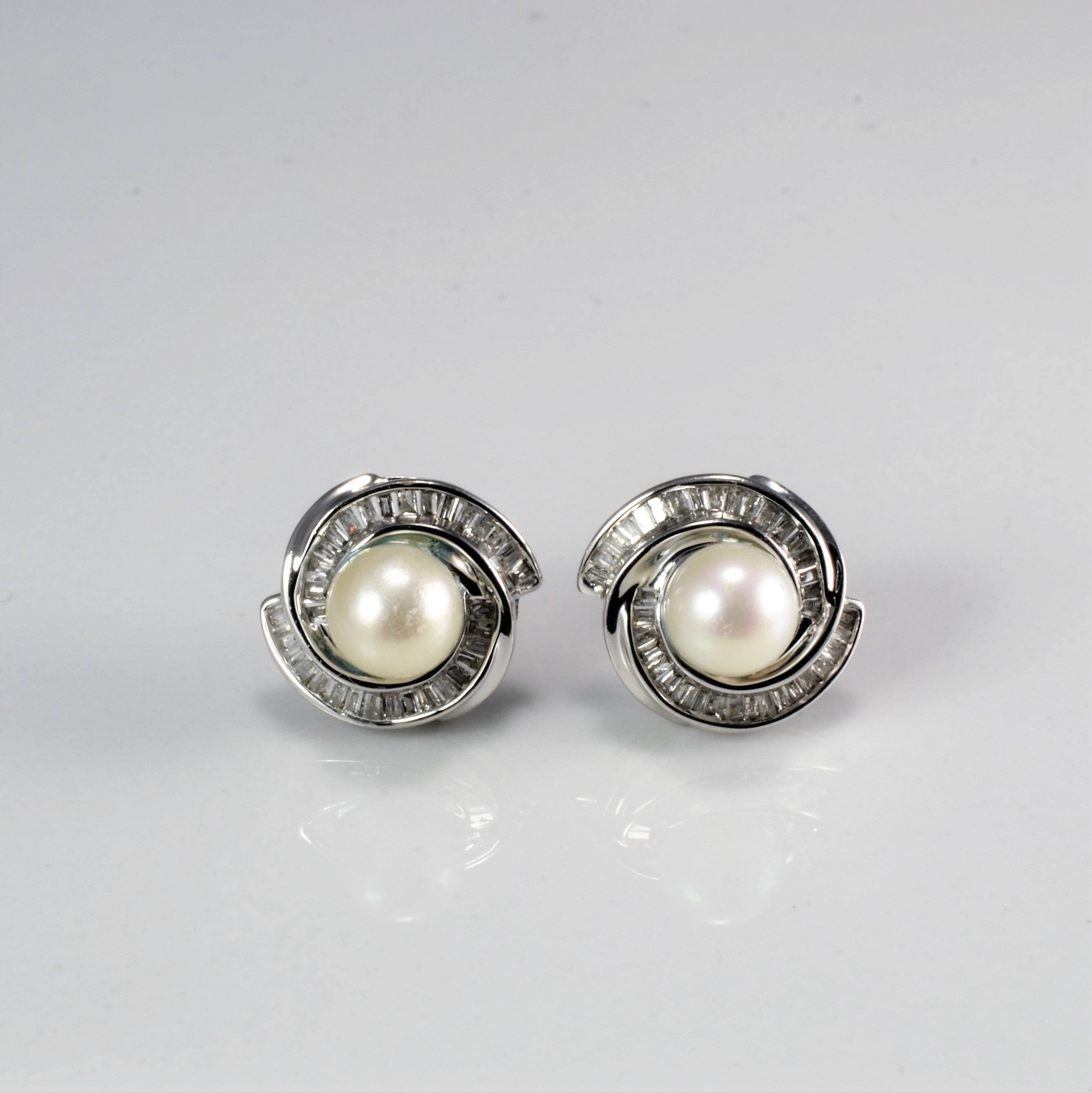 Pear & Diamond Stud Earrings | 0.30 ctw |