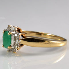 Emerald & Diamond Cocktail Ring | SZ 6 |