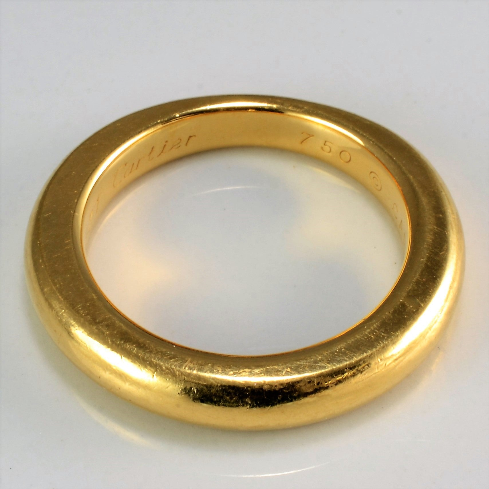 18K Gold Cartier Solid Band | SZ 7 |