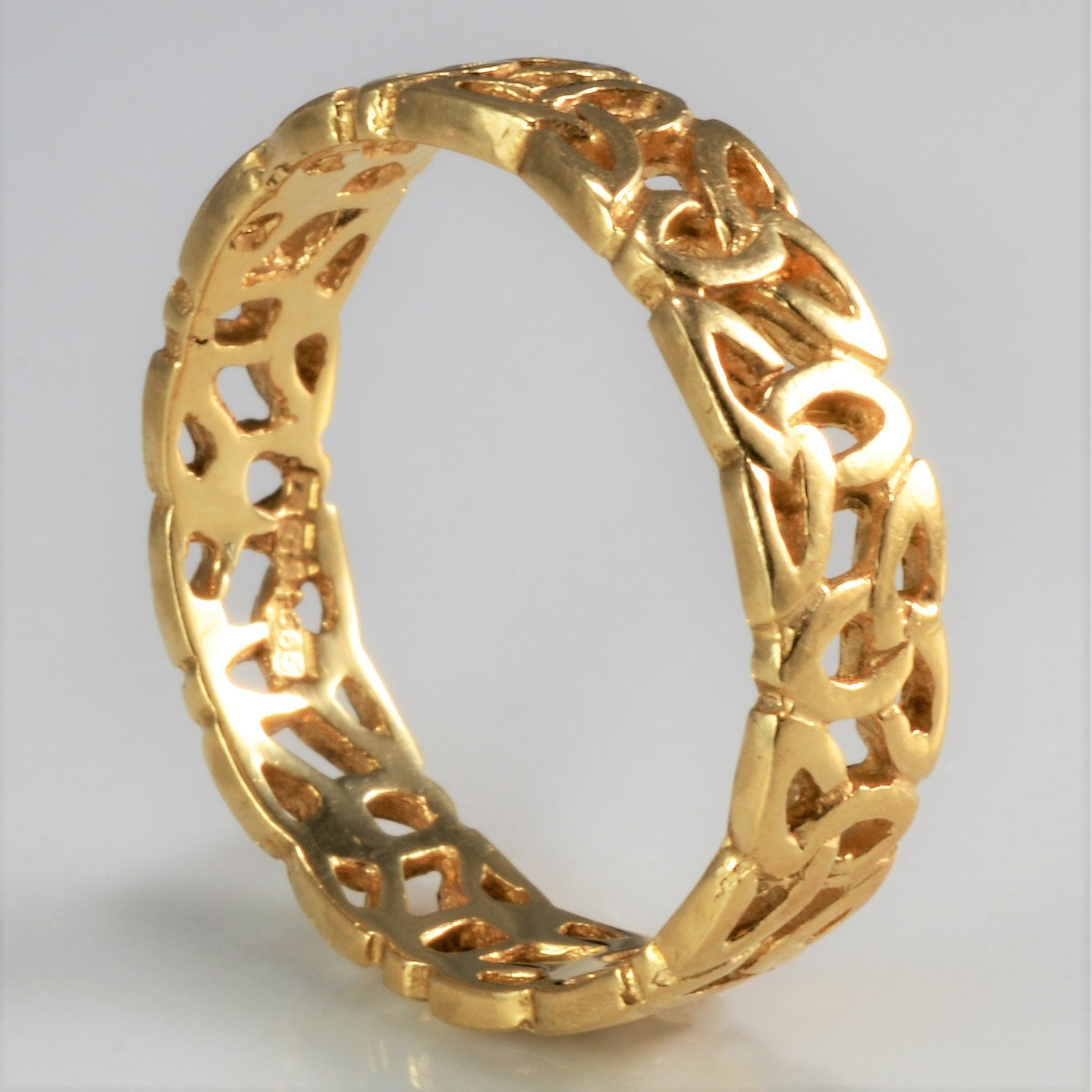 Yellow Gold Floral Pattern Band | SZ 9 |