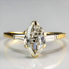 Tapered Three Stone Diamond Engagement Ring | 1.05 ctw, SZ 6 |