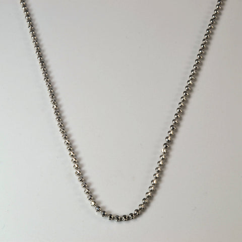 10k White Gold Ball Chain | 24"