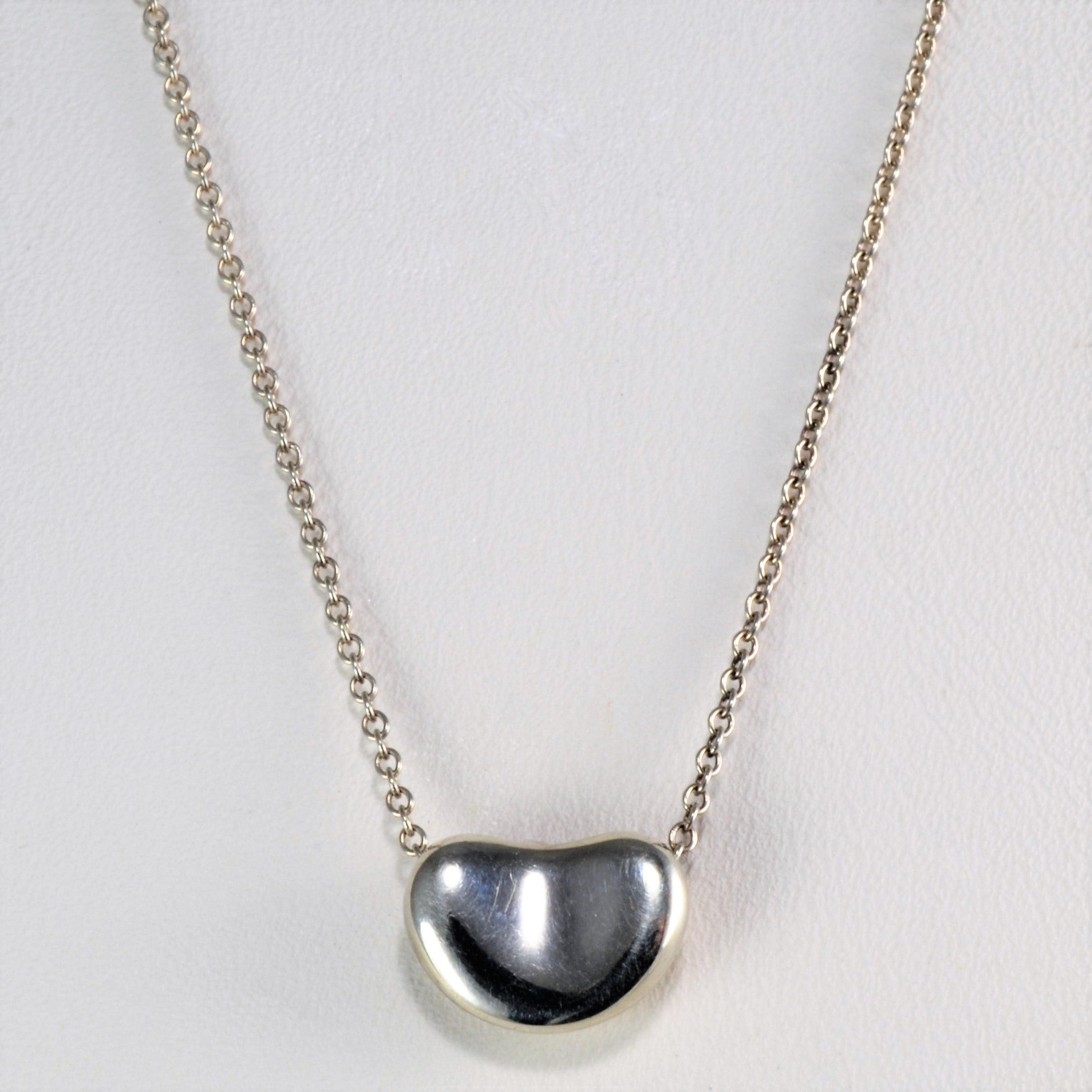 Tiffany & Co. Sterling Silver Elsa Peretti Pendant Necklace | 16''|