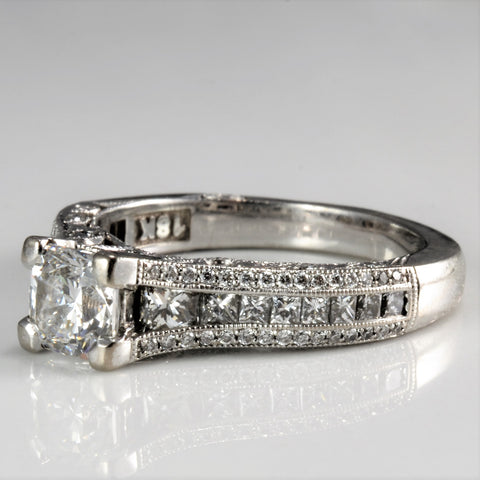 Milgrain Detailed Beautiful Diamond Engagement Ring | 1.63 ctw, SZ 5.5 |