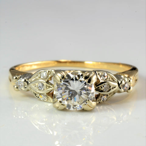 Retro Diamond Engagement Ring | 0.56 ctw, SZ 6 |