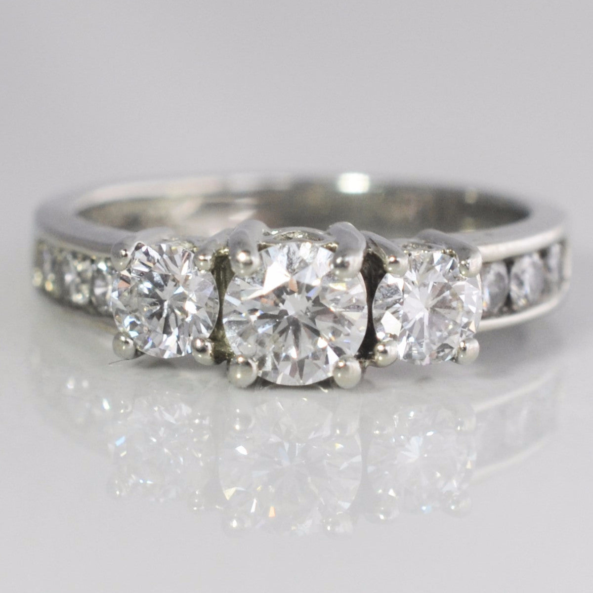 Stunning Three Stone Engagement Ring | 1.00 ctw, SZ 5 |