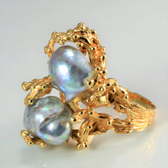 BIRKS Textured Baroque Pearl Ring | SZ 7.25 |