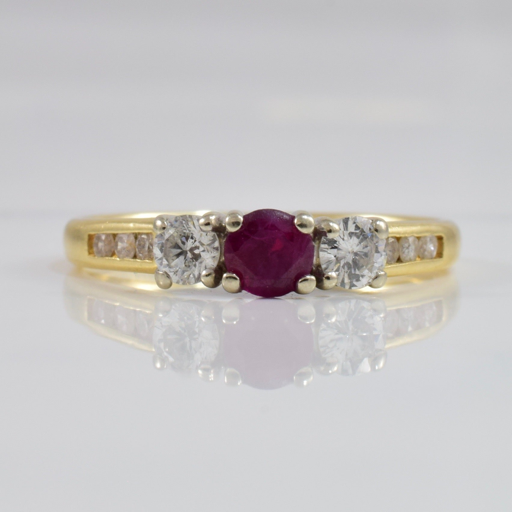 Ruby and Diamond Ring | 0.36 ctw SZ 5.5 |