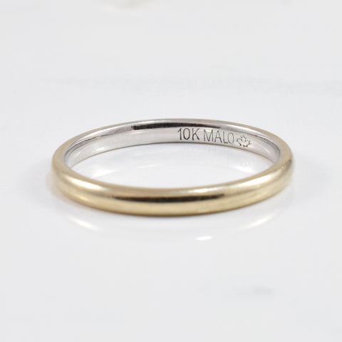 'Malo' 2mm White Gold Band | SZ 6.75 |