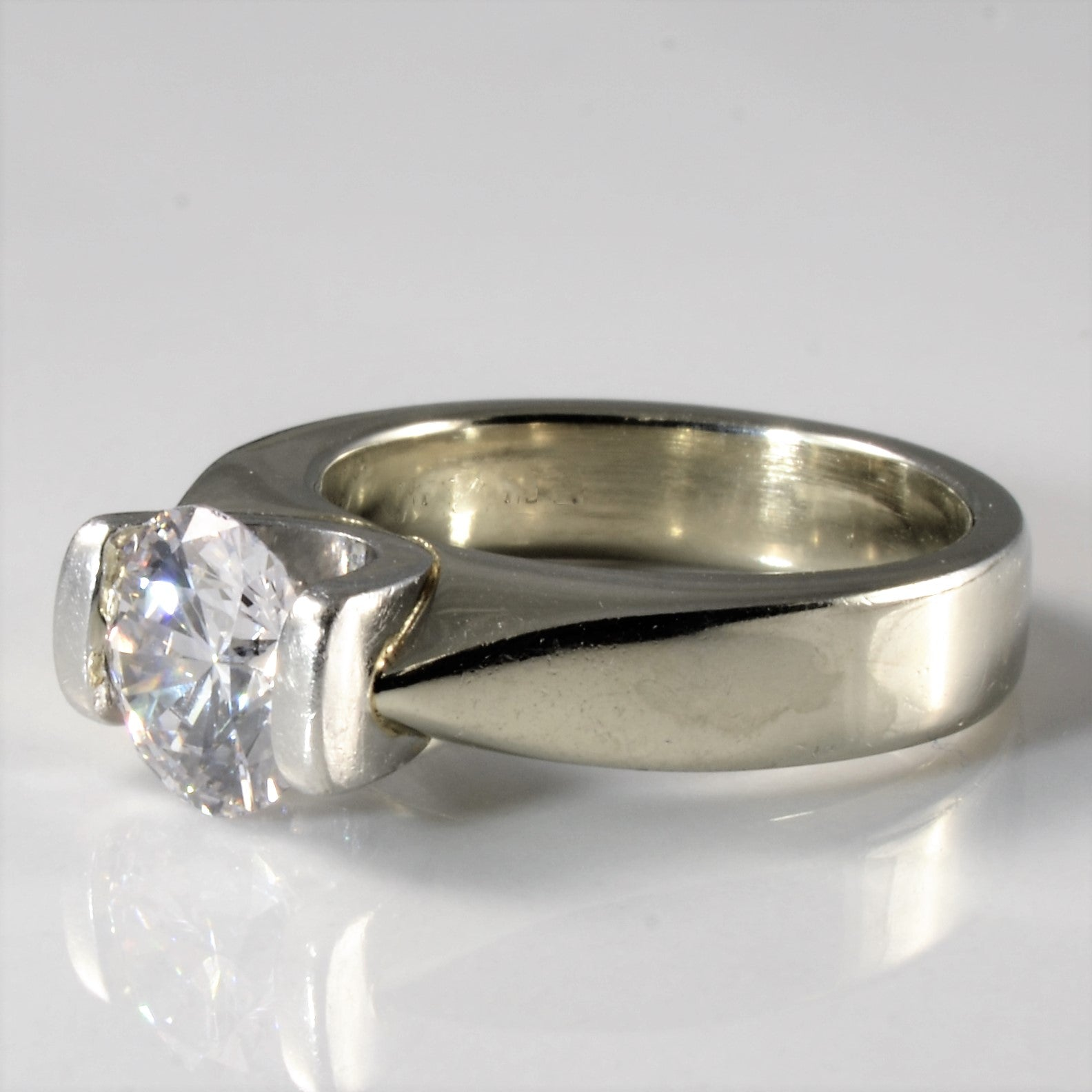 Semi Bezel Set Diamond Engagement Ring | 1.16ct | SZ 4 |