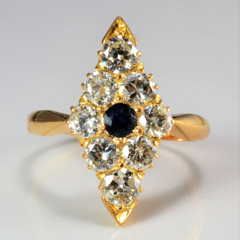Custom made Fancy Diamond & Sapphire Ladies Ring | 1.22 ctw, SZ 7 |