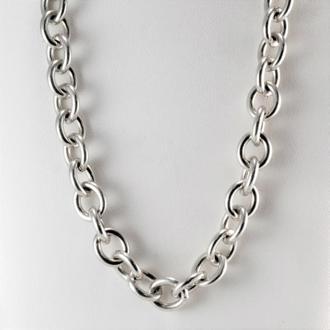 5ced7b37d Tiffany & Co. Rolo Link Sterling Silver Necklace | 16''