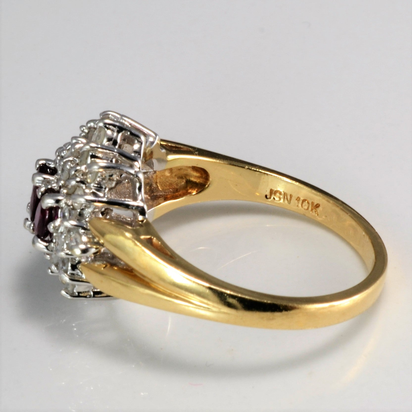 Cluster Diamond & Ruby Ring | 0.30 ctw, SZ 7.25 |