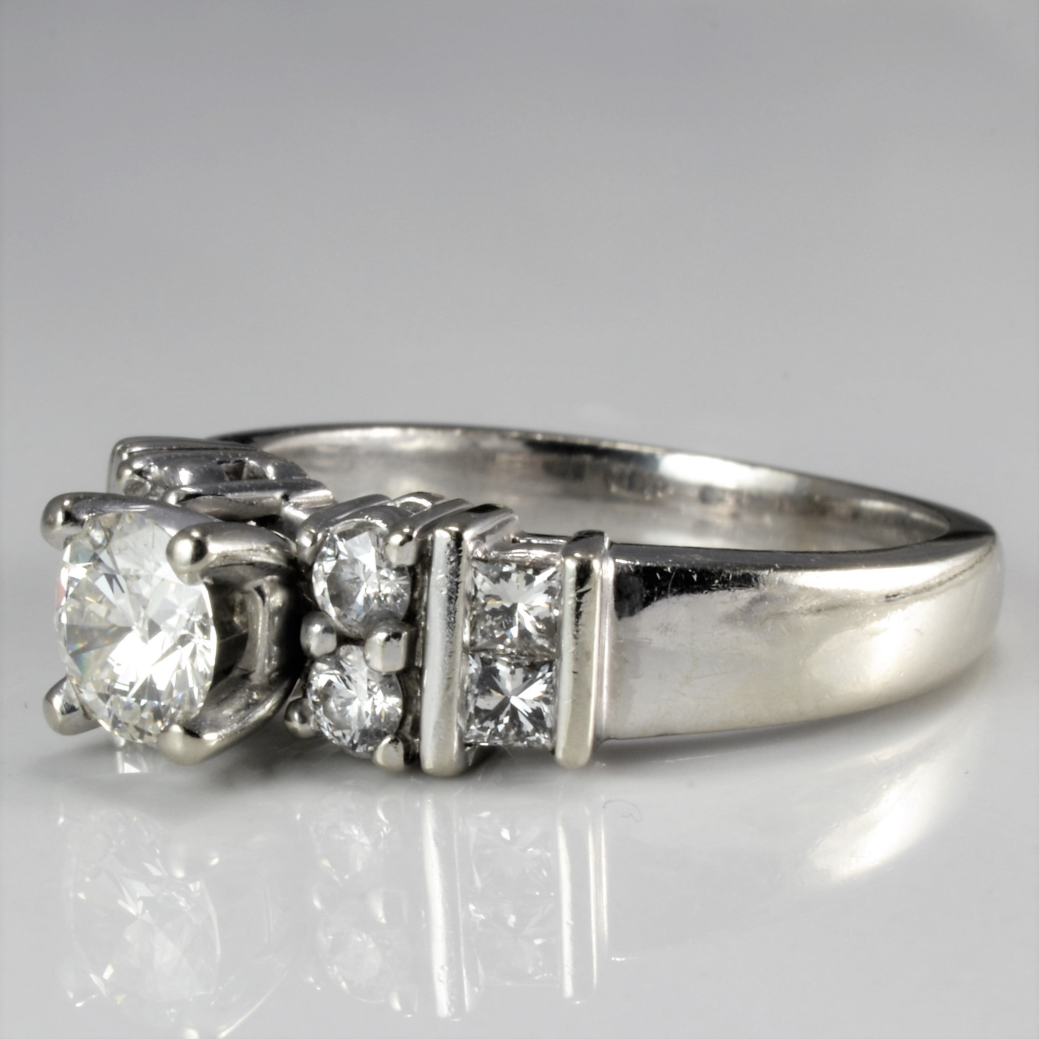 High Set Multi Stone Engagement Ring | 1.00 ctw, SZ 6.75 |