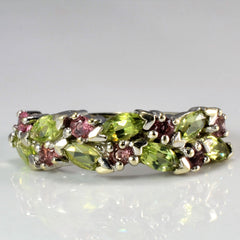 Cluster Multi Gemstone Ladies Ring | SZ 7.5 |