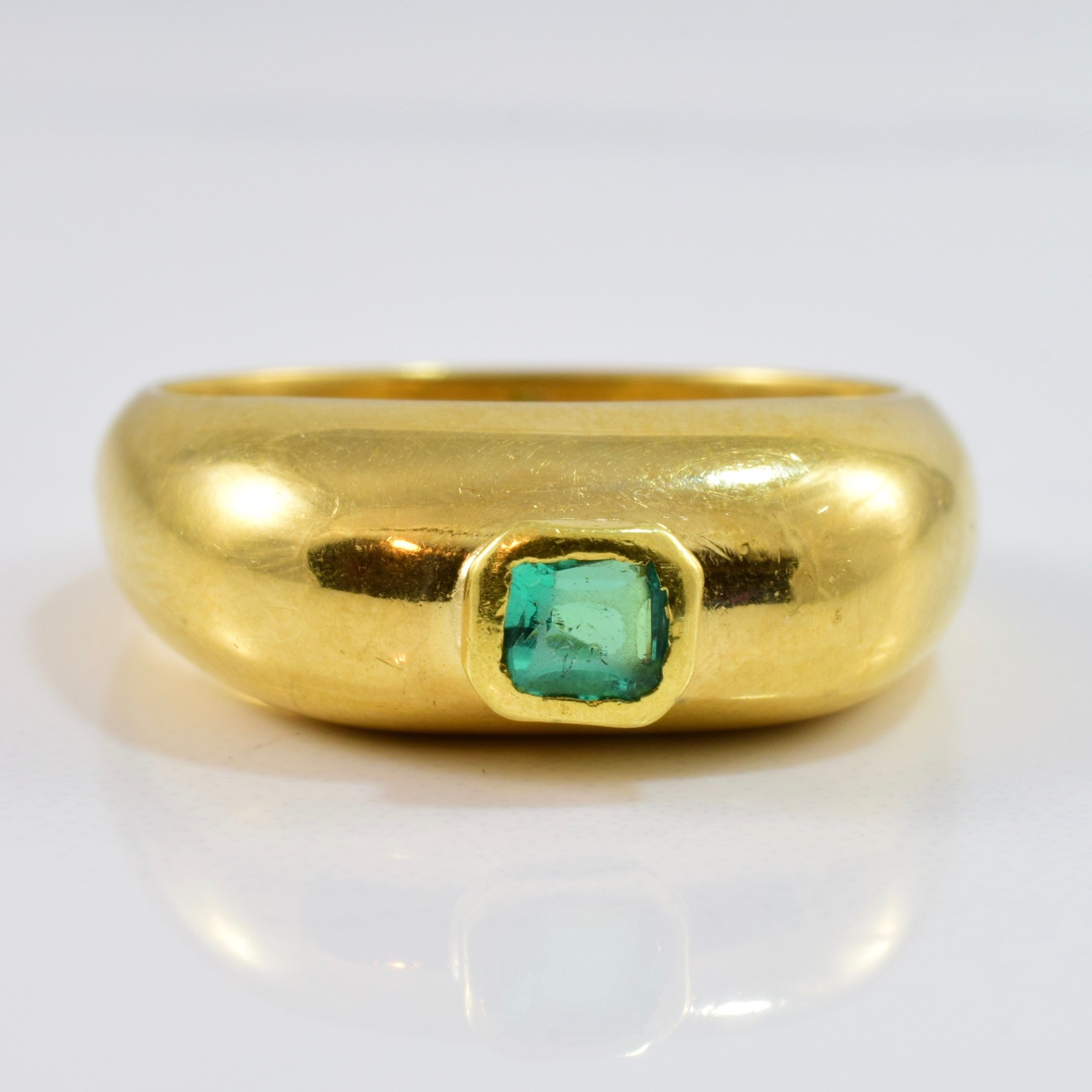 Bezel Set Emerald Ring | SZ 6.5 |