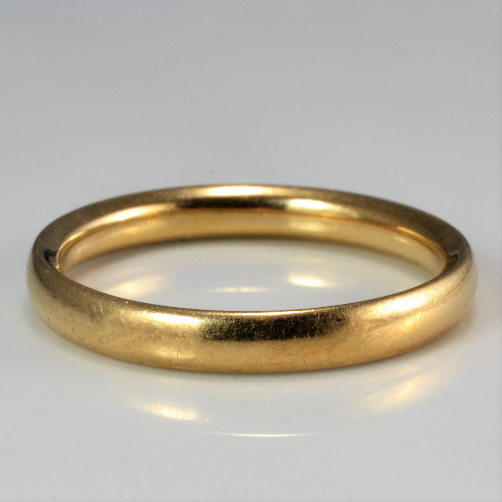 9K Gold Vintage Plain Band | SZ 7 |
