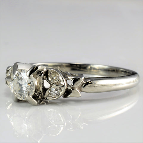 Prong Set Diamond Vintage Engagement Ring | 0.38 ctw, SZ 6.25 |