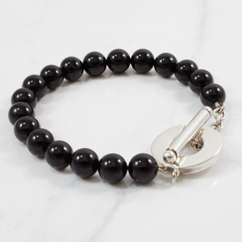 'Tiffany & Co.' Onyx Toggle Bracelet | 8"
