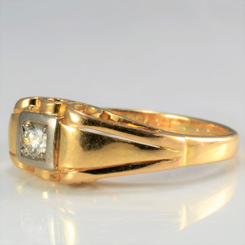 18K Vintage Solitaire Diamond Ring | 0.08 ct, SZ 4.25 |