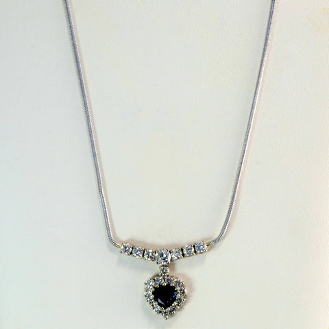 Cocktail Diamond & Sapphire Necklace | 0.65 ctw, 18''|