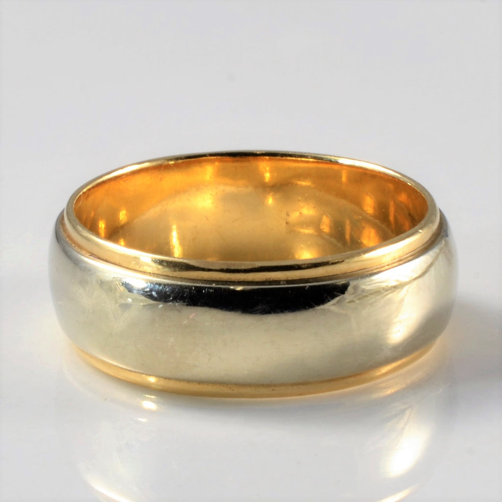 'Art Carved' Two Tone Gold Band | SZ 4.75 |