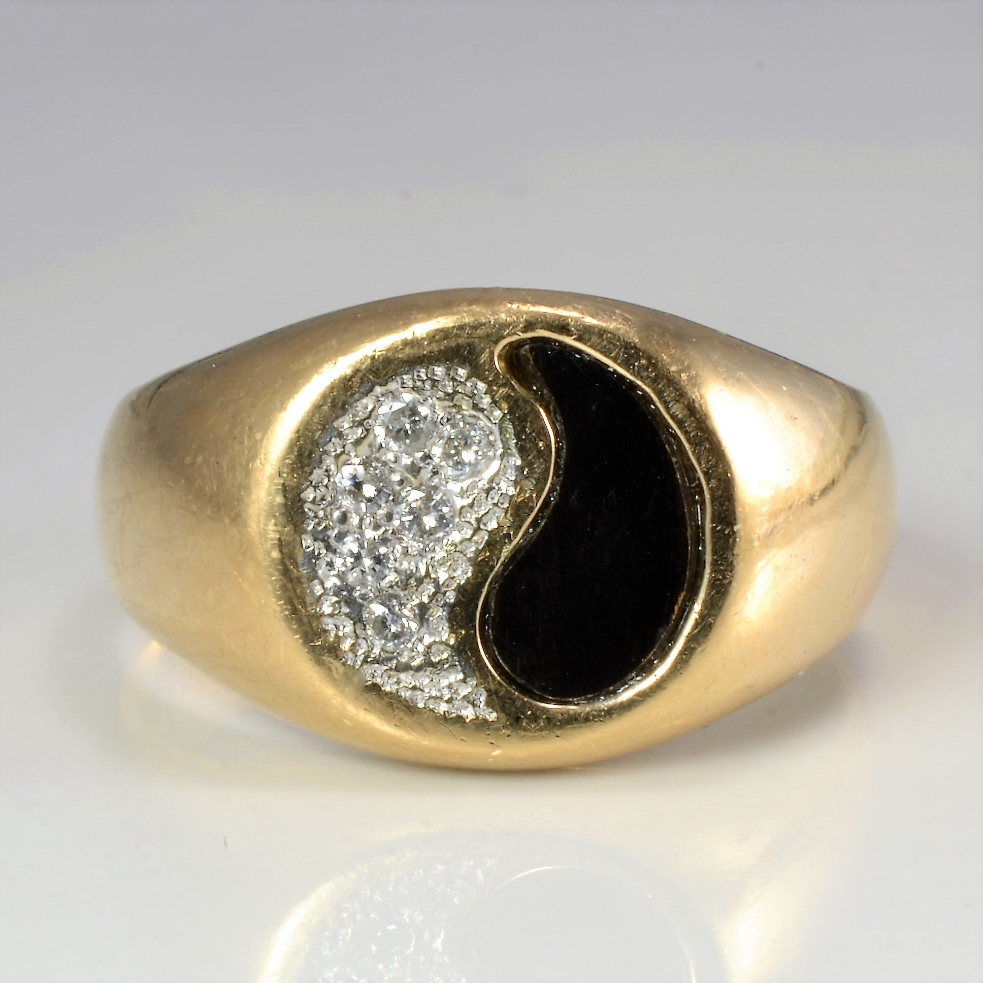 Yin Yang Cluster Diamond Heavy Ring | 0.08 ctw, SZ 10.5 |