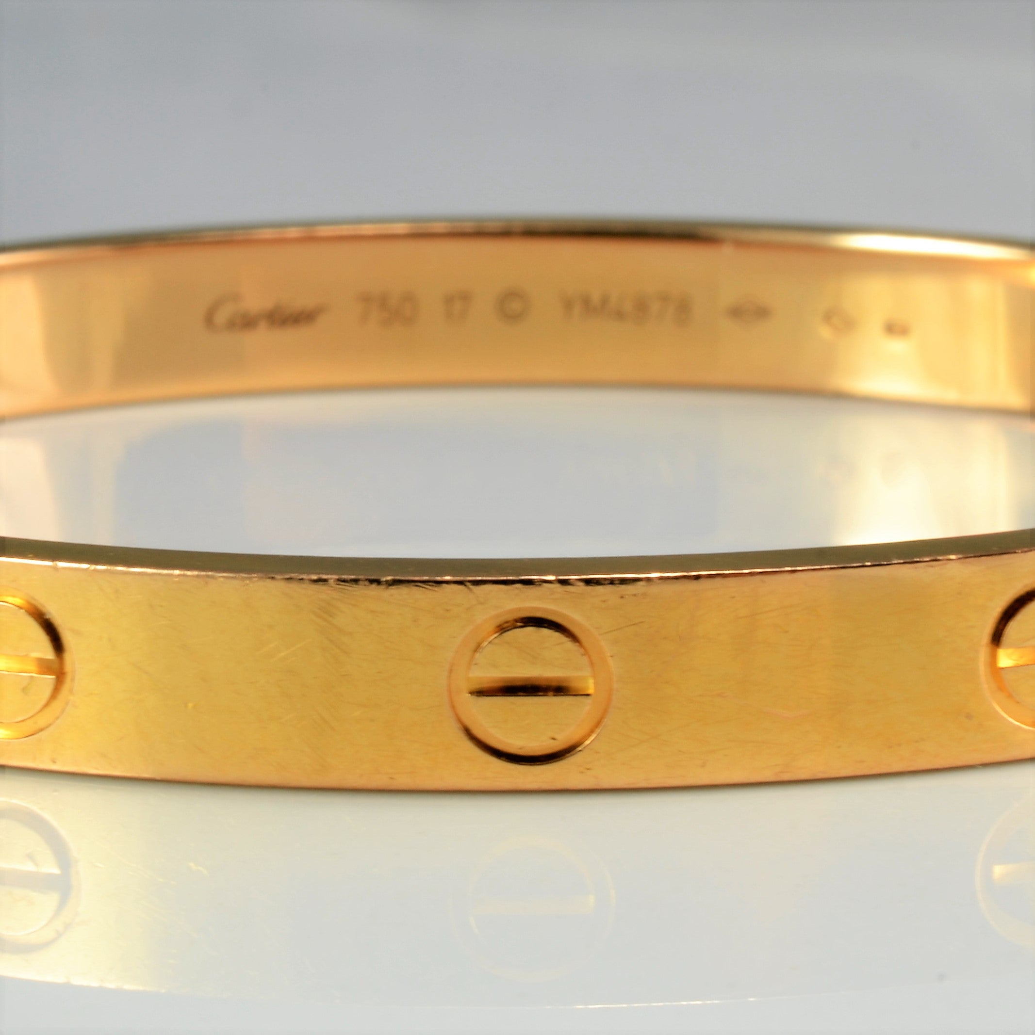 18K Gold Cartier Love bracelet with a Screwdriver | 7''|