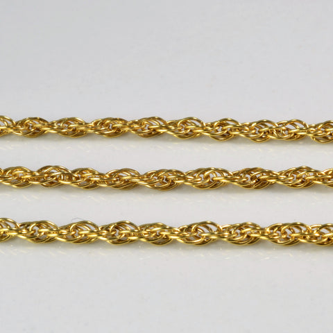 Simple Rope Chain Gold Bracelet | 7''|