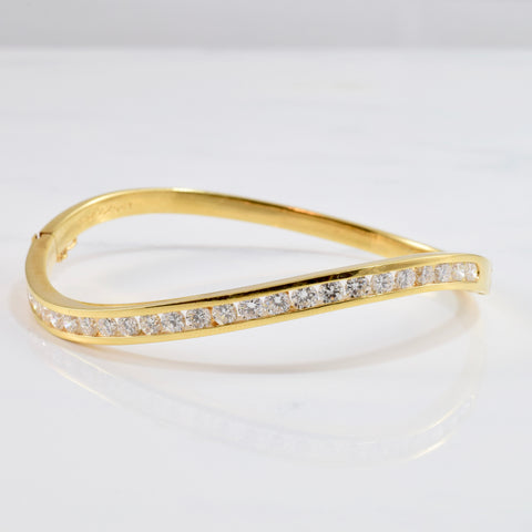 Channel Set Diamond Bangle | 2.25 ctw SZ 7"