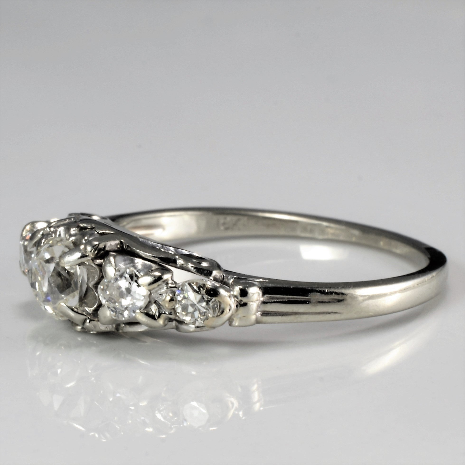 Vintage Five Stone Diamond Engagement Ring | 0.54 ctw, SZ 7 |