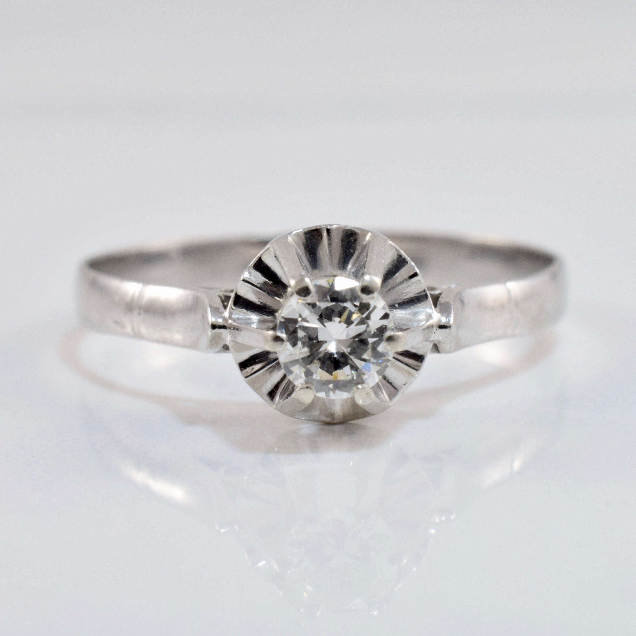 High Set Engagement Ring | 0.20 ct SZ 7.75 |