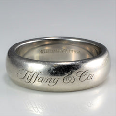 Tiffany & Co. Sold Platinum 950 Band | SZ 6.75 |