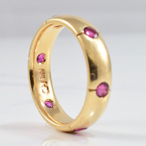 Vintage Chanel Gypsy Set Ruby Ring | SZ 6.75 |