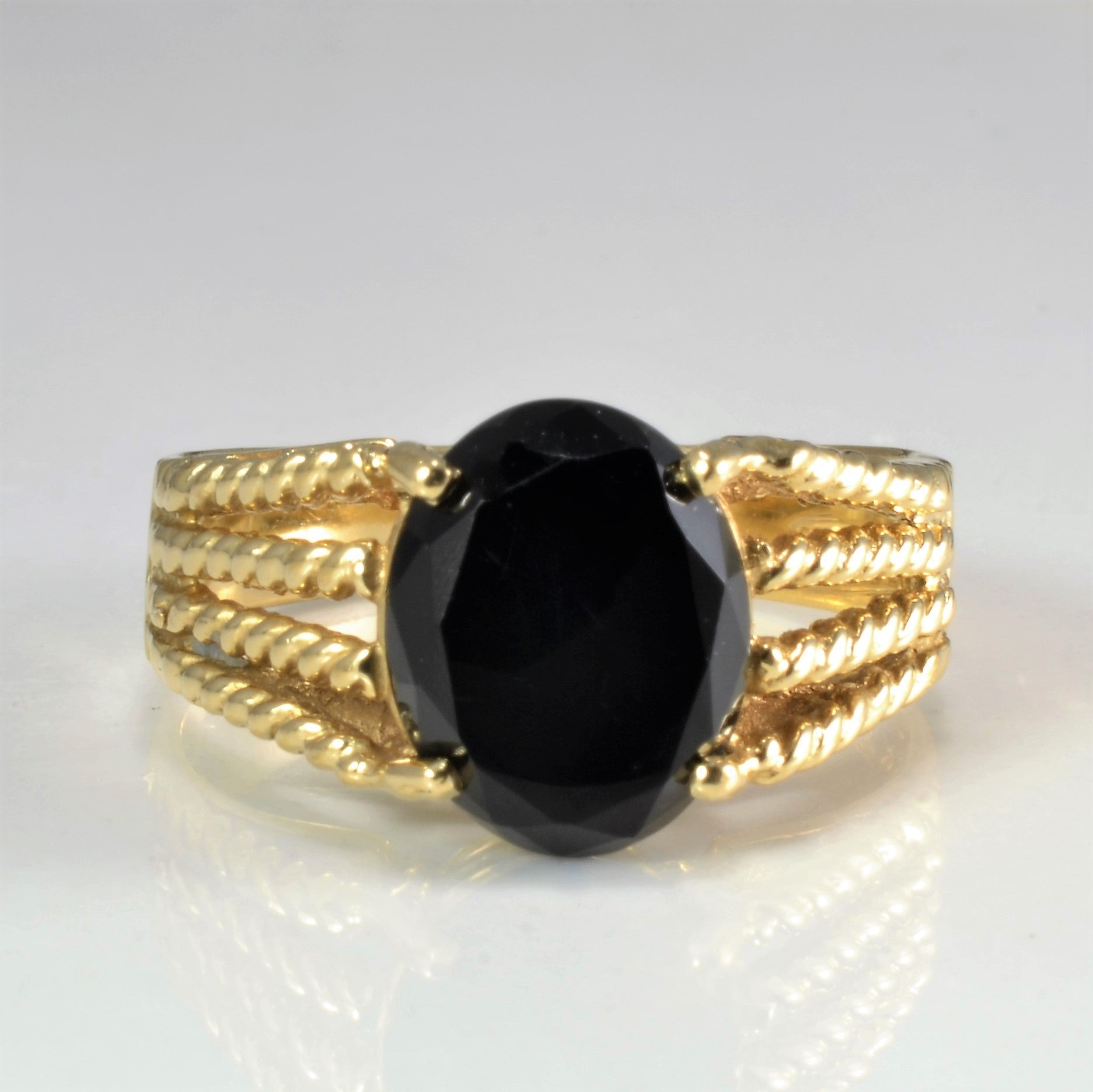 Prong Set Solitaire Onyx Ring | SZ 6.25 |