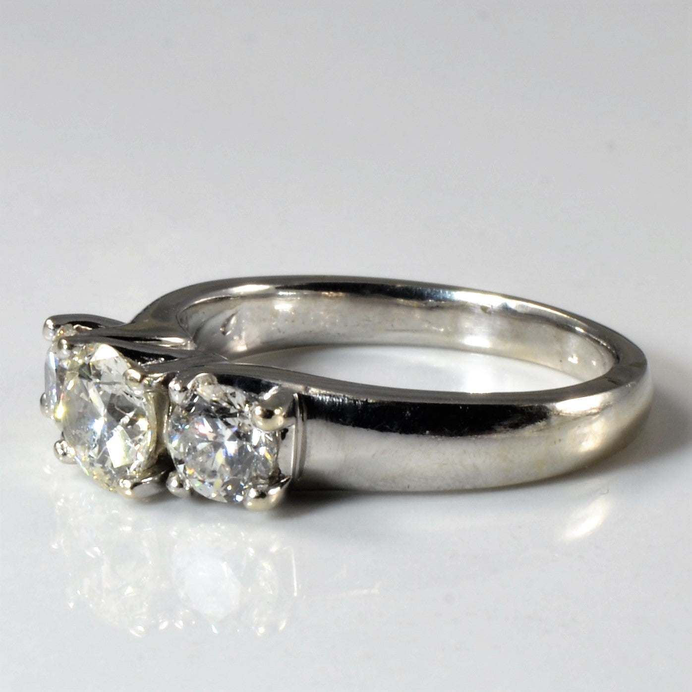 Elegant Three Stone Engagement Ring | 1.08 ctw, SZ 5.5 |