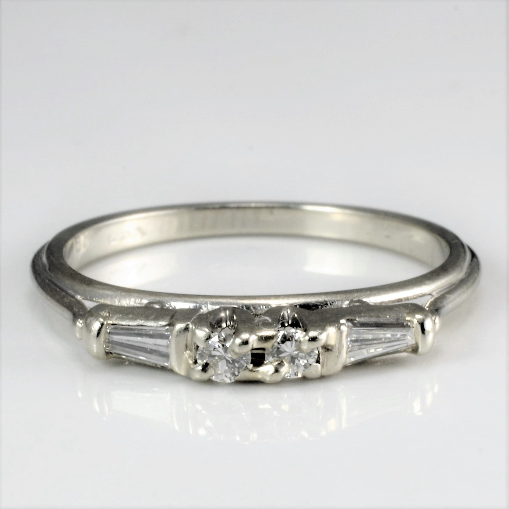 High Set Diamond Wedding Ring | 0.12 ctw, SZ 5.25 |