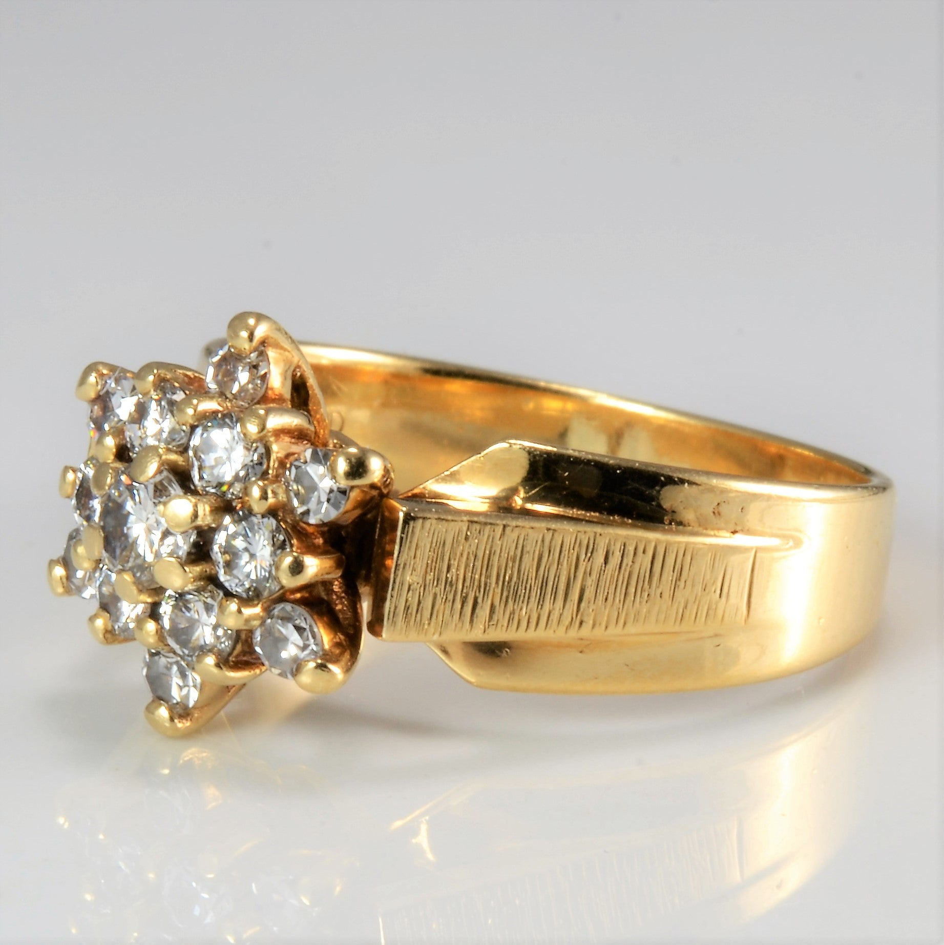 Tapered Cluster Diamond Ring | 0.42 ctw, SZ 6.75 |
